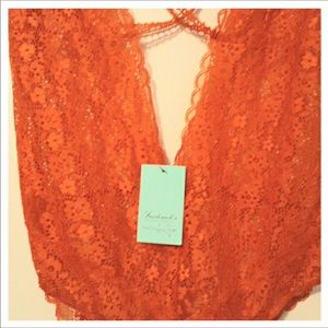 Frederick's of Hollywood Other - FREDERICKS OF HOLLYWOOD LACE ORANGE BODYSUIT